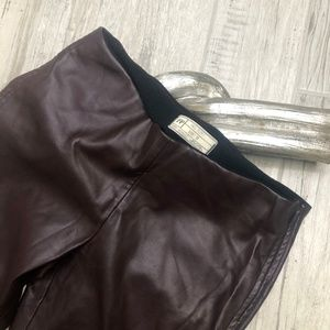 Free People Stretch Pleather Vegan Leather Pants